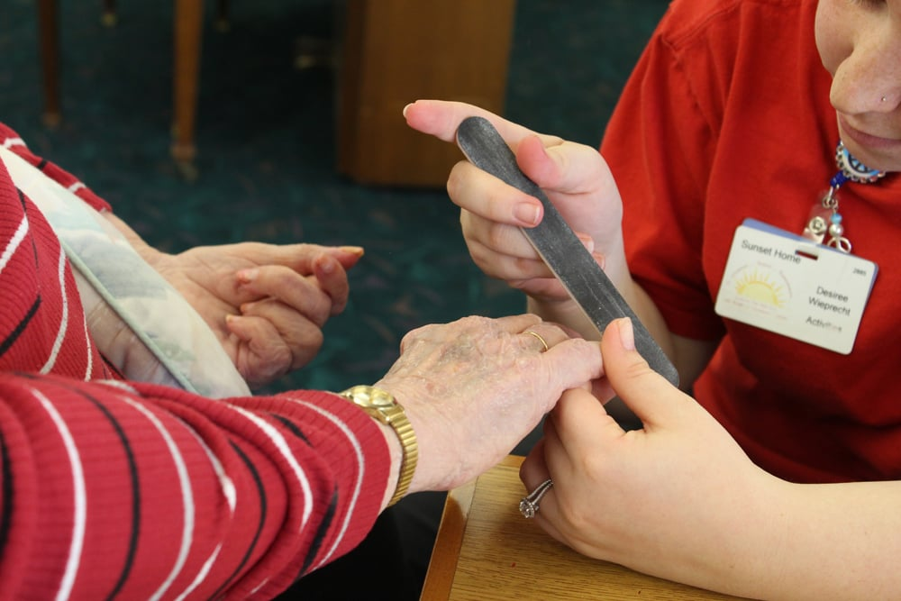 Manicures at Sunset Senior Living